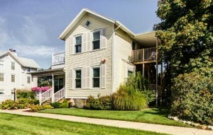 Captain's Cottage suites lodging along the Grand River channel leading out to Lake Michigan - Three units available.
